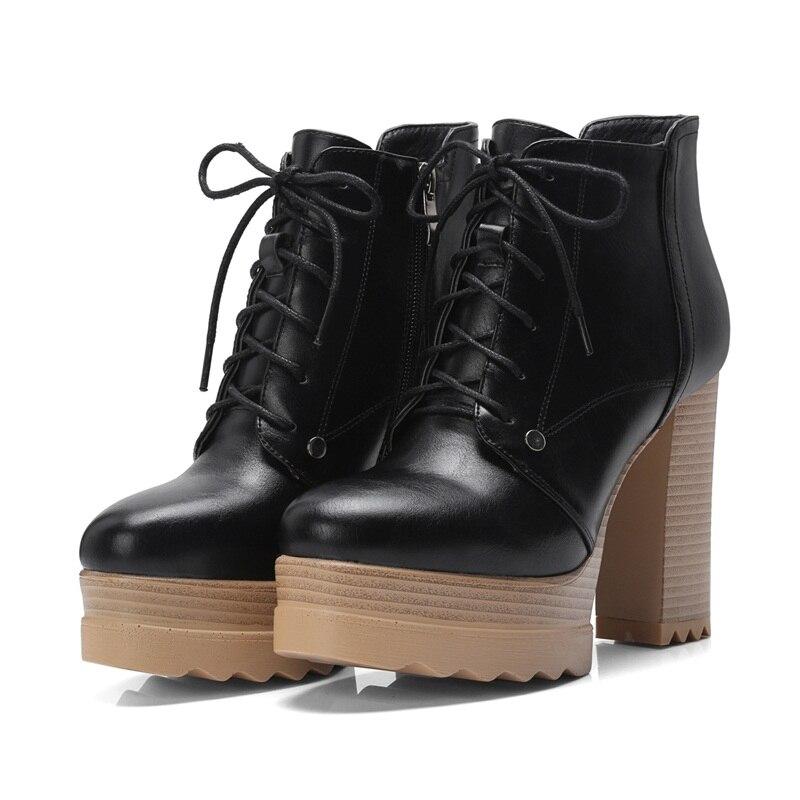gray Botas Calientes Otoño Apricot Cordones Boots Con Plataforma Ankle black Fashion Nieve Mujeres Montar De Facndinll Señoras Invierno Las Sexy gXqHHw