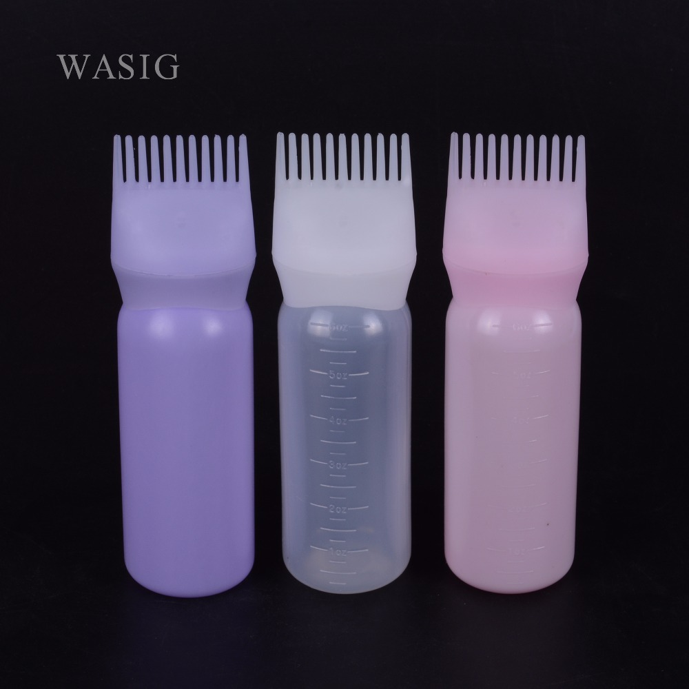 120ml Plastic Hair Dye Filling Bottle Applicator With Graduated Brush Dispensing Kit Salon Hair Coloring Dyeing Styling Tools