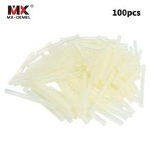MX-DEMEL 100pcs Hot Melt Gun Glue Sticks 7mmx100mm Plastic Transparent Sticks for Glue Gun Glue Sticks Power Tool Accessories