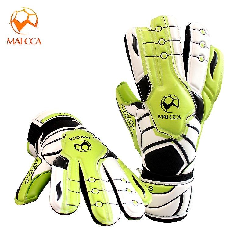 MAICCA Soccer Goalie Gloves Football Goalkeeper Professional kids Children Finger Protection Latex