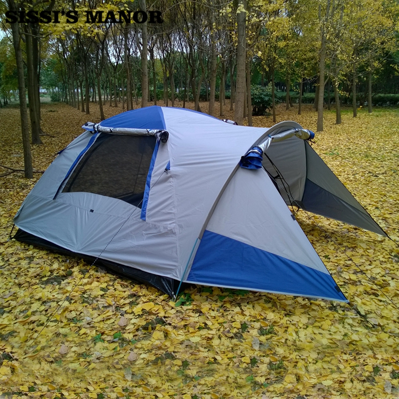 3-4 person 1 living room 1 bedrooom family 2 layer party hiking fishing beach travel relief anti rain outdoor camping tent outdoor double layer camping tent family tent 3 person beach garden picnic fishing hiking travel use