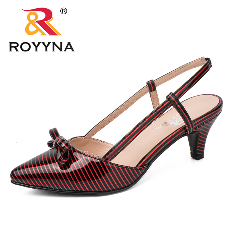 ROYYNA New Fashion Style Women Pumps Pointed Toe Women Shoes High Heels Lady Wedding Shoes Comfortable Light Soft Free Shipping royyna new sweet style women sandals cover heel summer gingham women shoes casual gladiator ladies shoes soft fast free shipping