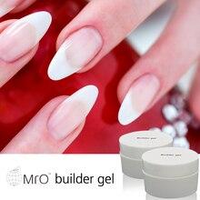 MRO French uv builder gel uv gel builder unha de transparent gel polish vernis permanente vernis a ongle artificial nails set