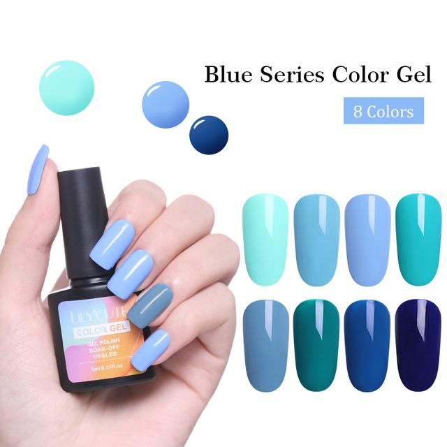 LILYCUTE 8ml Halloween Blue UV Gel
