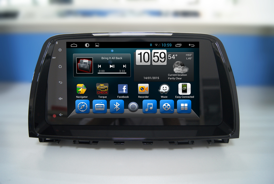 Navirider Android 8.1.0 octa core car dvd player for <font><b>Mazda</b></font> <font><b>6</b></font> <font><b>gps</b></font>+glosnass multimedia head Unit stereo autoradio image