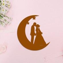 Eastshape Moon star Wedding Metal Cutting Dies DIY Scrapbooking Card Decorative Craft Embossing cake Bride Groom silhouette dies