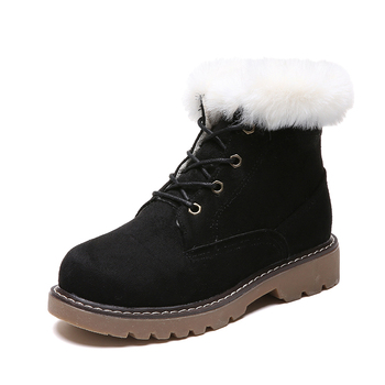 TANGNEST Winter Faux Suede Women Ankle Boots Round Toe Casual Shoes Woman Gladiator Fur Women Platform Shoes XWX7218