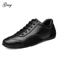 GRWG Brand Handmade Breathable Men S Shoes Top Quality Flat Loafers Men Shoes Fashion 100 Genuine