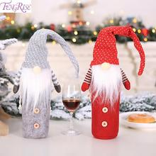 FENGRISE Santa Claus Wine Bottle Cover Christmas Decorations For Home Natal 2019 Merry Décor Navidad New Year 2020