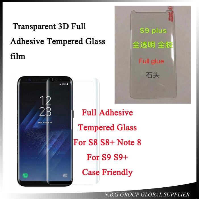 Samsung Galaxy S8 3D Completo Curvo Templado Vidrio LCD Protector de Pantalla Transparente