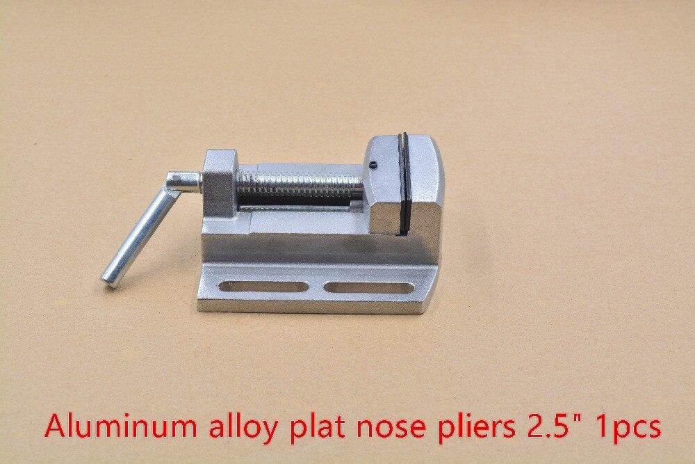 Drilling machine flat tongs 2 5 plat nose pliers bench clamp 1pcs