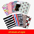 50pcs/lot Plastic Boutique Gift bags wholesale clothing shop portable Packaging Shopping Bag With Handle Large/medium/small size