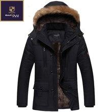В новая зимняя куртка Для мужчин плюс плотный бархат теплая куртка Для мужчин повседневная куртка с капюшоном Размер l-4xl5xl