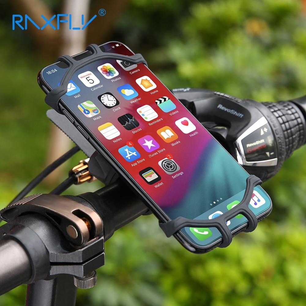 RACFLY Bicycle Holder Motorcycle Bike Holder Mobile Phone For iPhone Xiaomi Huawei Phone Handlebar Mount Bracket Bicycle
