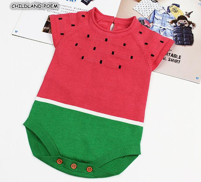 b10833178070 Baby Knitted Romper Watermelon Newborn Baby Rompers for Boys Girls ...