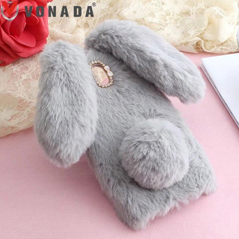 Vonada de caso para Doogee X5 Max HT16 HT17 HT7 HT3 X6 Y6 F5 mezcla T6 lindo Orejas de conejo de piel de la cubierta brillante suave cubierta de la Caja