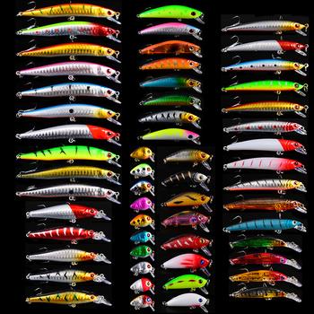 56 sztuk partia 2018 nowy przynęty Top nowe przynęty Minnow Popper korby przynęty sprzęt wędkarski 56 kolory żaba przynęty twarde przynęty przynęty zestaw tanie i dobre opinie Rzeka Zbiornik staw Morze łodzi rybackich Ocean beach fishing Stream Jezioro LURE sunlure DWS560 Sztuczne przynęty As Picture Show