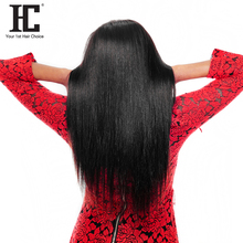 HC Hair Peruvian Straight Hair 100% Remy Human Hair Bundles Weave 10-28inch Natural Color Can Be Dyed Free Shipping One Piece