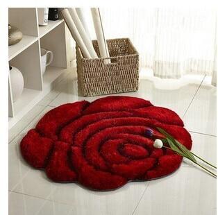 3D стерео ковер с розами журнальный столик для гостиной коврик диван кровать спальня коврики Европейская мода на заказ ковер - Цвет: Красный
