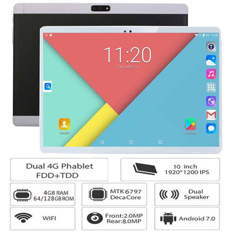 Hot New 10 inch Tablets Android 7 0 Deca Core 128GB ROM Dual Camera and Dual