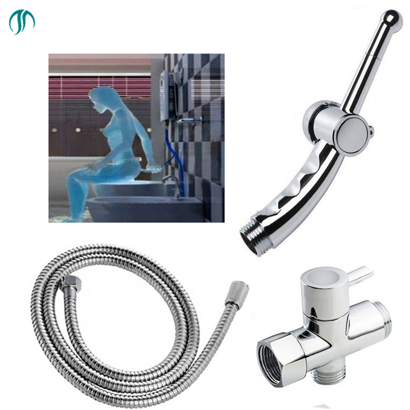 Bidet Shower Sprayer Portable Bidet Hygienic Shower Ducha Higienica Toilet Spray Gun Bathroom Toilet Bidet Shower Muslim Shattaf hand bidet spray bathroom thermostatic mixer valve handheld shower bidet sprayer douche kit set ducha higienica