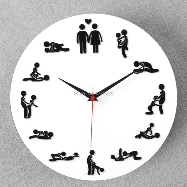 Foever love wall clock best creative home decor sexy lady - Watch over the garden wall online free ...