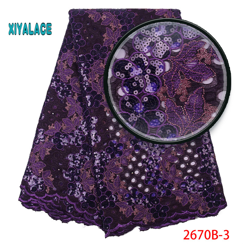 African Lace Fabric Organza Lace Fabric 2019 Embroidered Nigerian Net Laces Fabric Bridal High Quality French Tulle YA2670B-3