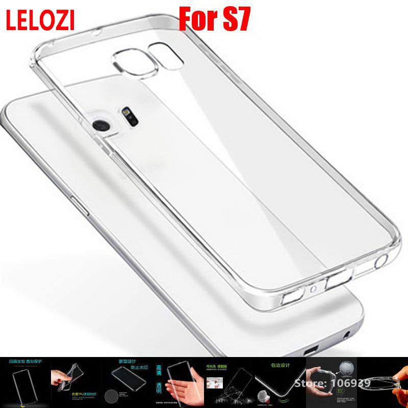 LELOZI Soft Transparent TPU Clear Silicone Gel Fundas Etui Case Cover For Samsung Galaxy S7 High-Quality Protective Cheap