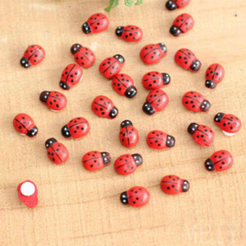 5pcs!!!!Garden Ornaments Lifelike Ladybug Faceplate Micro landscape Ladybird lady beetle Home Decor biedronka coccinelle Ladybug