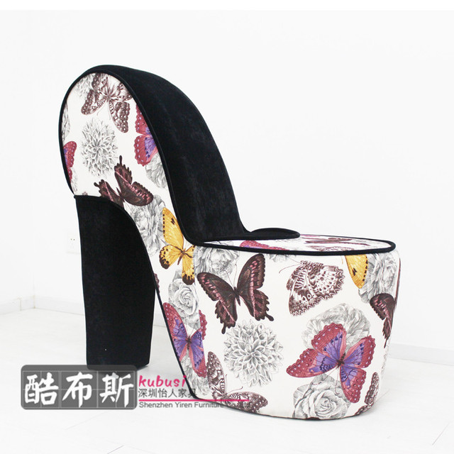 Fabric Shoe Heels Chair Sofa Backrest European Styling And Creative Design Shoes