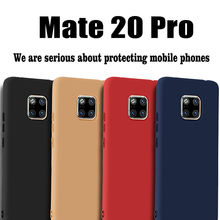 For Huawei Mate 20 Pro Case Ultra Slim Soft TPU Silicone Protection Back Cover for Huawei Mate 20 Pro Case Mate20Pro Matte Cover