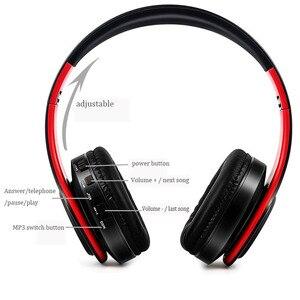 Image 2 - NDJU casque sans fil Bluetooth écouteur Bluetooth casque pliable réglable mains libres casque avec micro pour téléphone portable