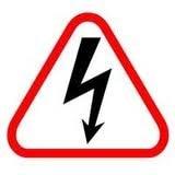 200 шт 20x20 см предостережение электричество высокого напряжения символ молнии ПВХ стикер, пункт № CA25