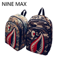 High Quality 3D Bloody Shark Printing Canvas School Bags Designer Lovers Backpack for Teenage Mochilas Laptop Machila Escolar