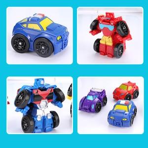 Image 3 - Cartoon Transformation Robot Action figur Spielzeug Mini Autos Roboter Klassische modell Spielzeug Für Kinder Geschenke Brinquedos