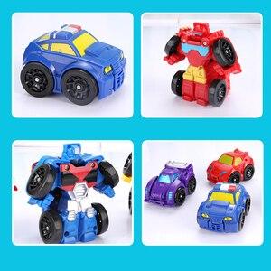 Image 3 - 漫画変換ロボットアクションフィギュアのおもちゃミニ車ロボットクラシックモデルおもちゃ子供のギフト brinquedos