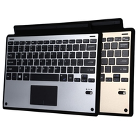 Ultra Slim Smart Aluminum Wireless Bluetooth Keyboard Leather Cover With Magnetic USB Cable For Microsoft Surface