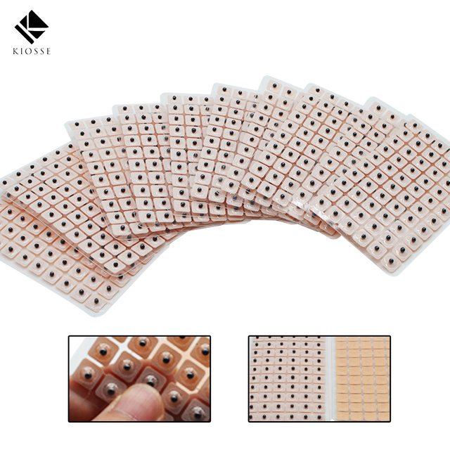 600Pcs Magnets Plated Ear Seeds Sticker Paste Bean Acupressure Ear massage seed for Acupoint Therapy Auricular Acupuncture A238