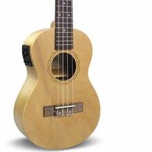 Tenor Soprano Concert Ukulele Acústica Eléctrica 21 23 26 Pulgadas pequeño Mini amplificador de Guitarra 4 Cuerdas de Ukelele Guitarra Sintonizador Uke