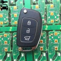 Auto Hinzuzufügen Klappschlüssel Fernbedienung 3 Tasten 433 mhz mit ID46 Chip für Hyundai i30 Solaris Elantra IX35 Akzent Alarm Key Nach 2015