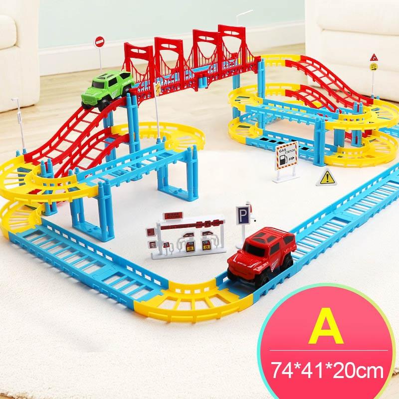 Lumineux Magic 49Off Truck 52 Track Car Circuit railway Voiture Jouet Glowing Tricks Road Toy Us4 Racing In Luminous Railroad Enfant Diecastsamp; 7gbf6y