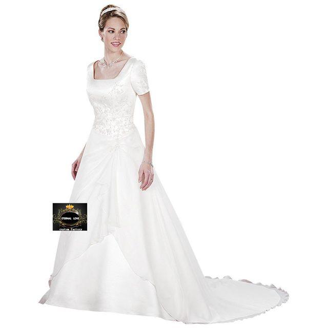 2013 vintage wedding dress with short sleeve embroidery long wedding dress