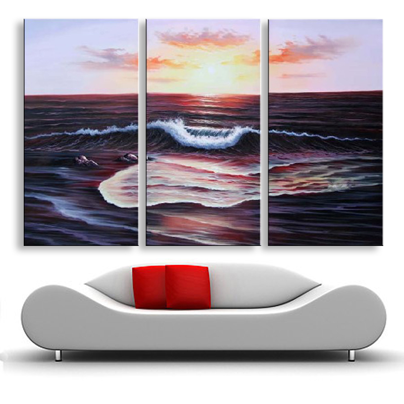 handmade oil painting on canvas modern 100%  Best Art Seascape oil painting original directly from artist  SE-056