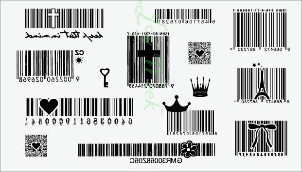 Us 049 Wodoodporna Tymczasowa Naklejka Tatuaż Surf Kod Kreskowy Kod Tatuaż Dwuwymiarowy Tatuaż Naklejki Flash Tatuaż Fałszywe Tatuaże W Tymczasowe