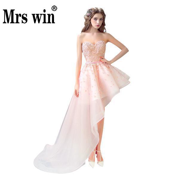 Aliexpress.com : Buy Evening Dress 2017 Sweet Flowers Luxury Short ...