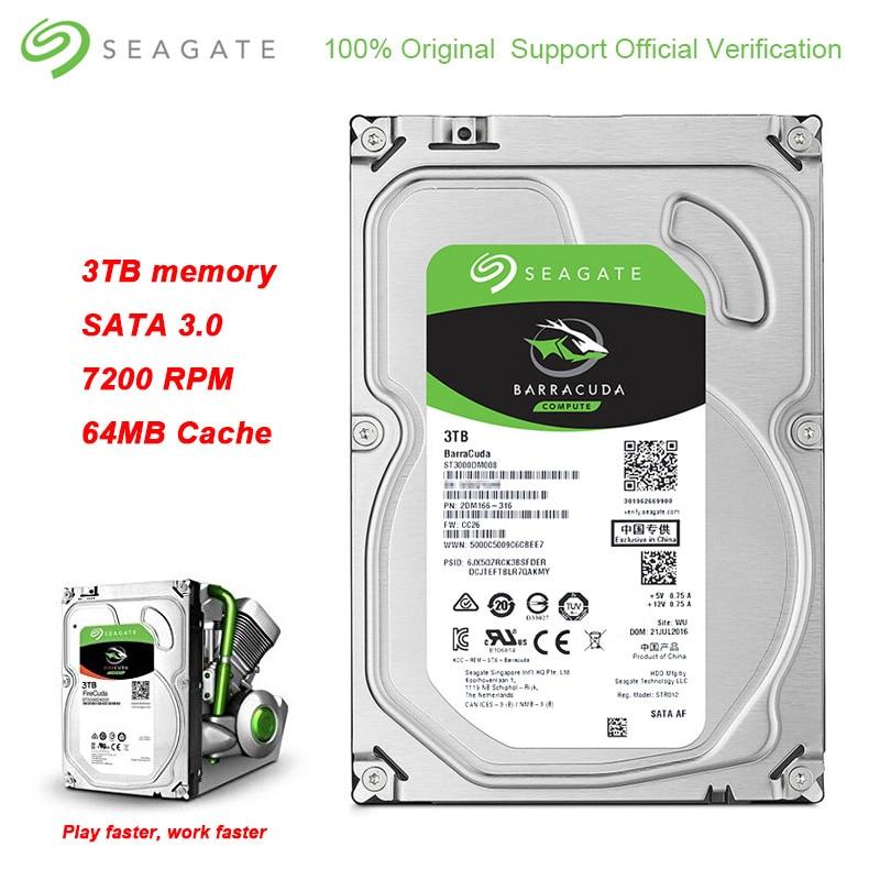 Original Seagate BarraCuda 3TB 3 5 Inch Internal 64MB Cache Business HDD 7200RPM SATA 3 0