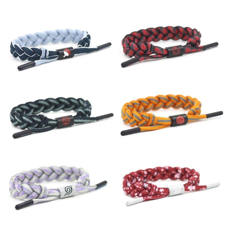 Anime Naruto moda estilo ajustable cuerda cordón pulseras pulsera pulseras Cosplay Prop nave de la gota