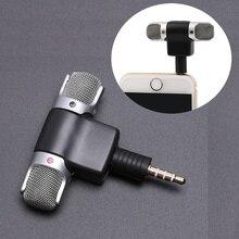 Mini micrófono Jack de 3,5mm, micrófono estéreo para grabar teléfono móvil, micrófono para entrevistas en estudio, 4 pines para smartphone
