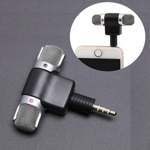Mini 3.5mm Jack Microphone Stereo Mic For Recording Mobile Phone Studio Interview Microphone 4 pin For smartphone(China)