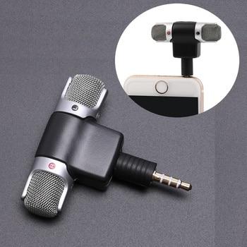 Mikrofon stereo jack 3.5mm mini untuk rakaman mikrofon wawancara studio telefon bimbit 4 pin untuk telefon pintar